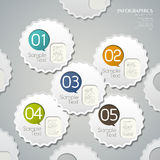 Abstract 3d tag infographics. Modern vector abstract 3d tag infographic elements Royalty Free Stock Photo