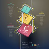 Abstract 3d tag infographics. Modern vector abstract 3d tag infographic elements Stock Image