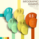 Abstract 3d tag infographics. Modern vector abstract 3d tag infographic elements Royalty Free Stock Image