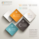Abstract 3d tag infographics. Realistic vector abstract 3d tag infographic elements Royalty Free Stock Photo