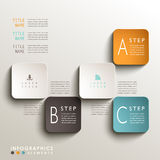Abstract 3d tag infographics. Realistic vector abstract 3d tag infographic elements Stock Photo