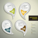 Abstract 3d tag infographics Royalty Free Stock Photo