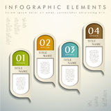Abstract 3d tag infographics. Realistic vector abstract 3d tag infographic elements Royalty Free Stock Photography