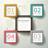 Abstract 3d tag infographics Royalty Free Stock Photos