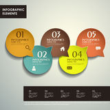 Abstract 3d tag infographics Royalty Free Stock Image
