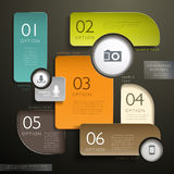 Abstract 3d tag infographics Royalty Free Stock Photography