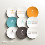 Abstract 3d tag infographics. Realistic vector abstract 3d round tag infographic elements Stock Photography