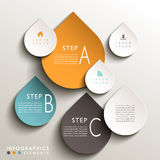 Abstract 3d tag infographics. Vector abstract 3d drop tag infographic elements Royalty Free Stock Photos