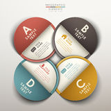 Abstract 3d tag infographics. Vector abstract 3d tag infographic elements Stock Image