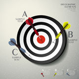 Abstract 3d target infographics Royalty Free Stock Photography