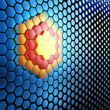 Abstract 3D technological background. Abstract 3D technological background with hexagons Royalty Free Illustration