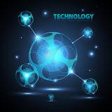 Abstract 3d technology sphere. Abstract 3d technology neon sphere Royalty Free Stock Images