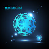 Abstract 3d technology sphere. Abstract 3d technology neon sphere Stock Images