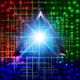 Abstract 3d technology triangle tunnel  background. Stock Image