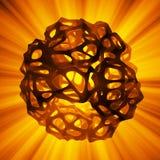 Abstract 3d teruggevend concept hoog polygebied met de chaotische cellulaire mulecular structuur van het netwerknet Achtergrond s vector illustratie