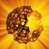 Abstract 3d teruggevend concept hoog polygebied met de chaotische cellulaire mulecular structuur van het netwerknet Achtergrond s stock illustratie