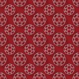 Abstract 3d teruggevend wit gebiedpatroon op rode achtergrond Stock Foto's