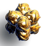 Abstract 3D textured object Royalty Free Stock Images