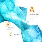 Abstract 3D triangle geometric background Stock Images