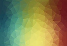Abstract 2D triangle geometric multicolor background Stock Photos