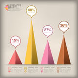 Abstract 3d triangle infographics Stock Photography
