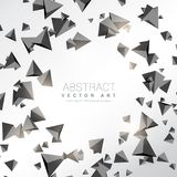 Abstract 3d triangle shapes background. Vector Royalty Free Stock Photo