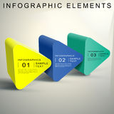 Abstract 3d Triangular prism infographics. Vector abstract 3d Triangular prism infographic elements Stock Photography