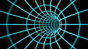 Abstract 3d tunnel from a grid. Stock Photos