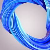 Abstract 3D Twisted Shape. Image stock illustration