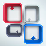 Abstract 3d vector frames with place for text Stock Photo