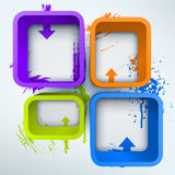 Abstract 3d vector Illustration with place for Royalty Free Stock Photography
