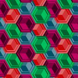 Abstract 3d vector seamless pattern collage with cubes. Abstract 3d vector seamless pattern collage with repeating colorful cubes, modern background. Design for vector illustration