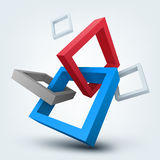 Abstract 3D Vector Shapes Stock Photo