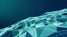 Abstract 3d Verlicht vervormd Mesh Sphere Het teken van het neon Futuristische Technologie HUD Element Elegante samenvatting royalty-vrije illustratie