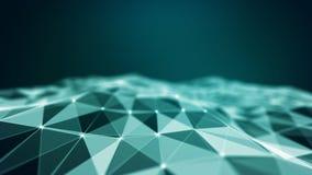 Abstract 3d Verlicht vervormd Mesh Sphere Het teken van het neon Futuristische Technologie HUD Element Elegante samenvatting vector illustratie