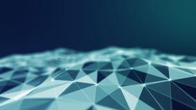 Abstract 3d Verlicht vervormd Mesh Sphere Het teken van het neon Futuristische Technologie HUD Element Elegante samenvatting stock illustratie