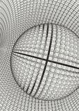 Abstract 3d Verlicht vervormd Mesh Sphere Het teken van het neon Futuristische Technologie HUD Element Vernietigd elegant groot Royalty-vrije Stock Afbeeldingen
