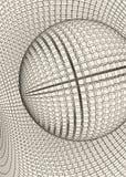 Abstract 3d Verlicht vervormd Mesh Sphere Het teken van het neon Futuristische Technologie HUD Element Vernietigd elegant groot Stock Fotografie
