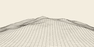 Abstract 3d Verlicht vervormd Mesh Sphere Het teken van het neon Futuristische Technologie HUD Element Vernietigd elegant groot Vector Illustratie