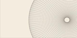 Abstract 3d Verlicht vervormd Mesh Sphere Het teken van het neon Futuristische Technologie HUD Element Vernietigd elegant groot Stock Foto