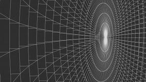 Abstract 3d Verlicht vervormd Mesh Sphere Het teken van het neon Futuristische Technologie HUD Element Vernietigd elegant groot Royalty-vrije Stock Fotografie