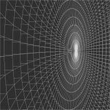 Abstract 3d Verlicht vervormd Mesh Sphere Het teken van het neon Futuristische Technologie HUD Element Vernietigd elegant groot Stock Afbeeldingen