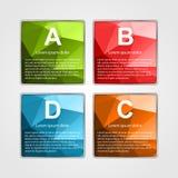 Abstract 3d vierkant infographicsmalplaatje Royalty-vrije Stock Foto