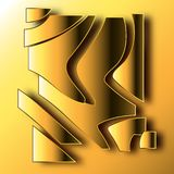 abstract 3D volumetric icon. royalty free illustration