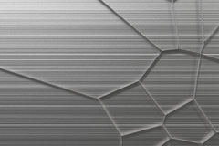 Abstract 3d voronoi grate on brushed metal background Royalty Free Stock Photo