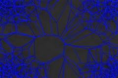 Abstract 3d voronoi lattice on black background. Atom grid. Chaotic line structure. 3D render illustration royalty free illustration