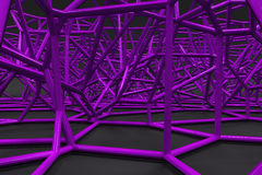 Abstract 3d voronoi lattice on black background Royalty Free Stock Photos