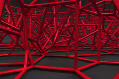 Abstract 3d voronoi lattice on black background Royalty Free Stock Photography