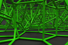 Abstract 3d voronoi lattice on black background Royalty Free Stock Image