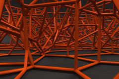 Abstract 3d voronoi lattice on black background Royalty Free Stock Photo